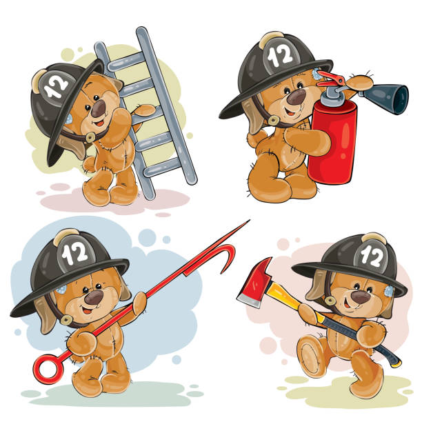 Free Clipart Cartoon Cat Firefighters