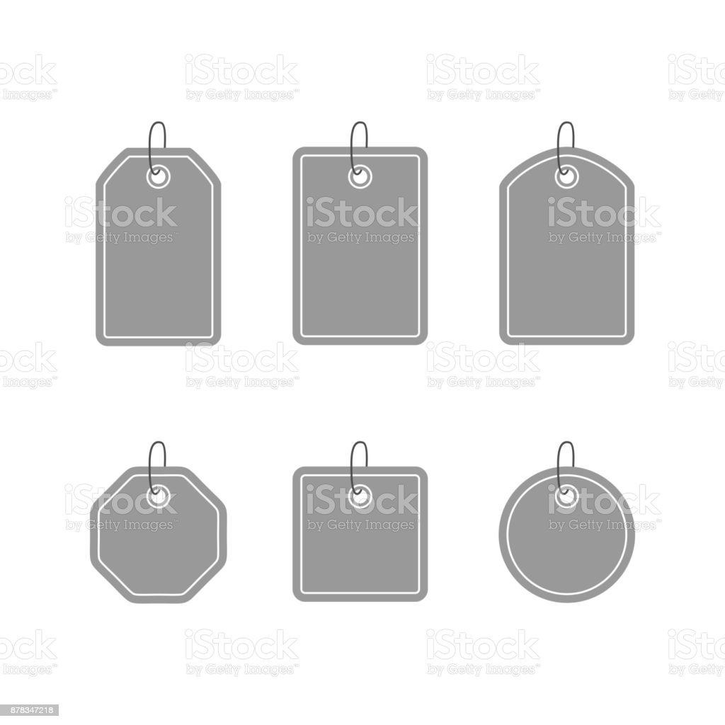 Set Of Template Tags Labels And Stickers Stock Illustration