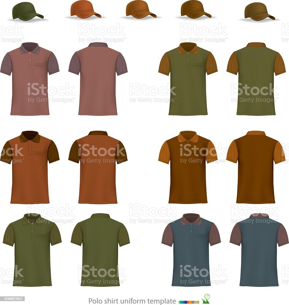 royalty free polo shirt and red clip art vector images