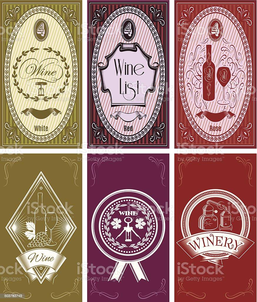 Ensemble De Modeles Pour Cartes Visite Des Menus Vin