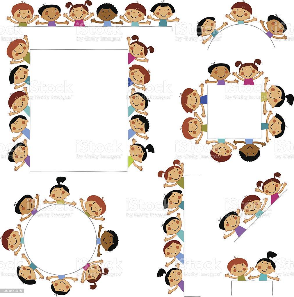 Ilustración de Conjunto De Plantillas Para Niños De Echar Un Vistazo ...
