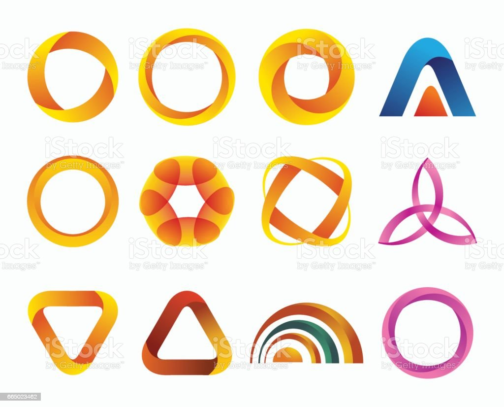 Set of templates gradient logos. vector art illustration