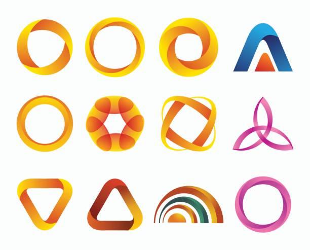 Set of templates gradient logos. vector art illustration