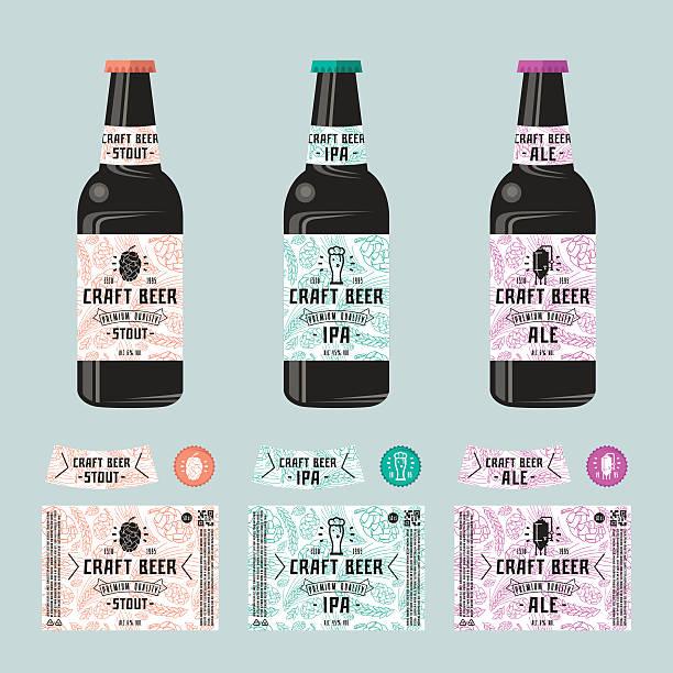 Set of templates label for craft beer vector art illustration