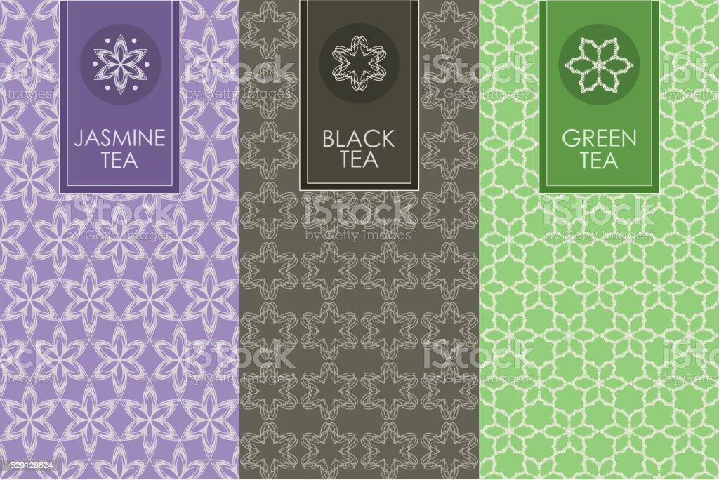 set of templates packaging vector art illustration