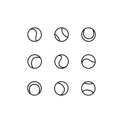 Set of tennis balls.