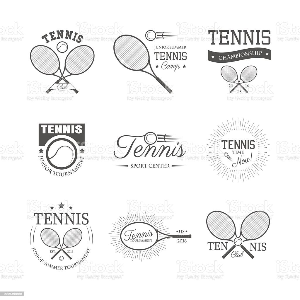 Set of tennis emblems – Vektorgrafik