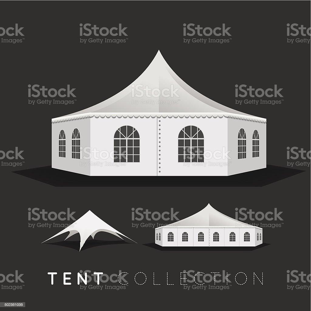Set of tents vector art illustration