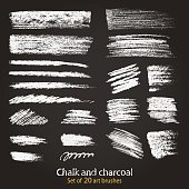 Set of textures. Blackboard and chalk