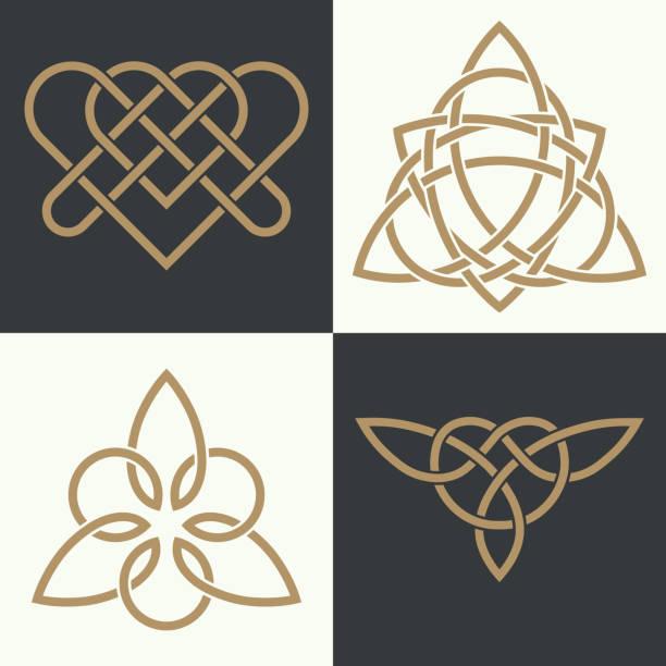 ilustrações, clipart, desenhos animados e ícones de set of the ancient - fontes de tatuagem