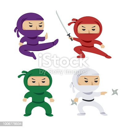 Free download of Cute Ninja vector graphics and illustrations