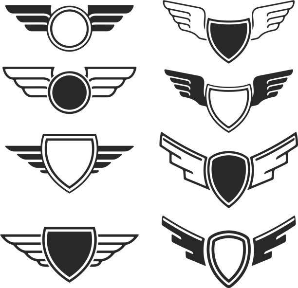 Car Logo With Wings Clip Art Vector Images Illustrations IStock - Car sign with wings
