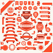 Set of the Ribbons stock illustration