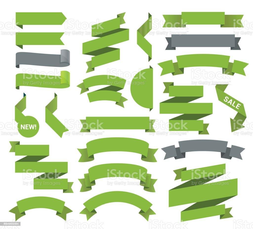 Ein Satz von der Bänder Lizenzfreies ein satz von der bänder stock vektor art und mehr bilder von abzeichen