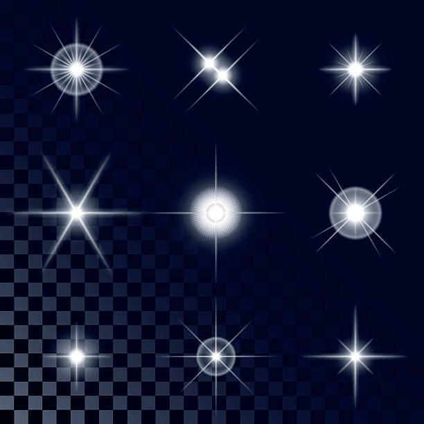 Bекторная иллюстрация Набор сверкающими белыми звездами