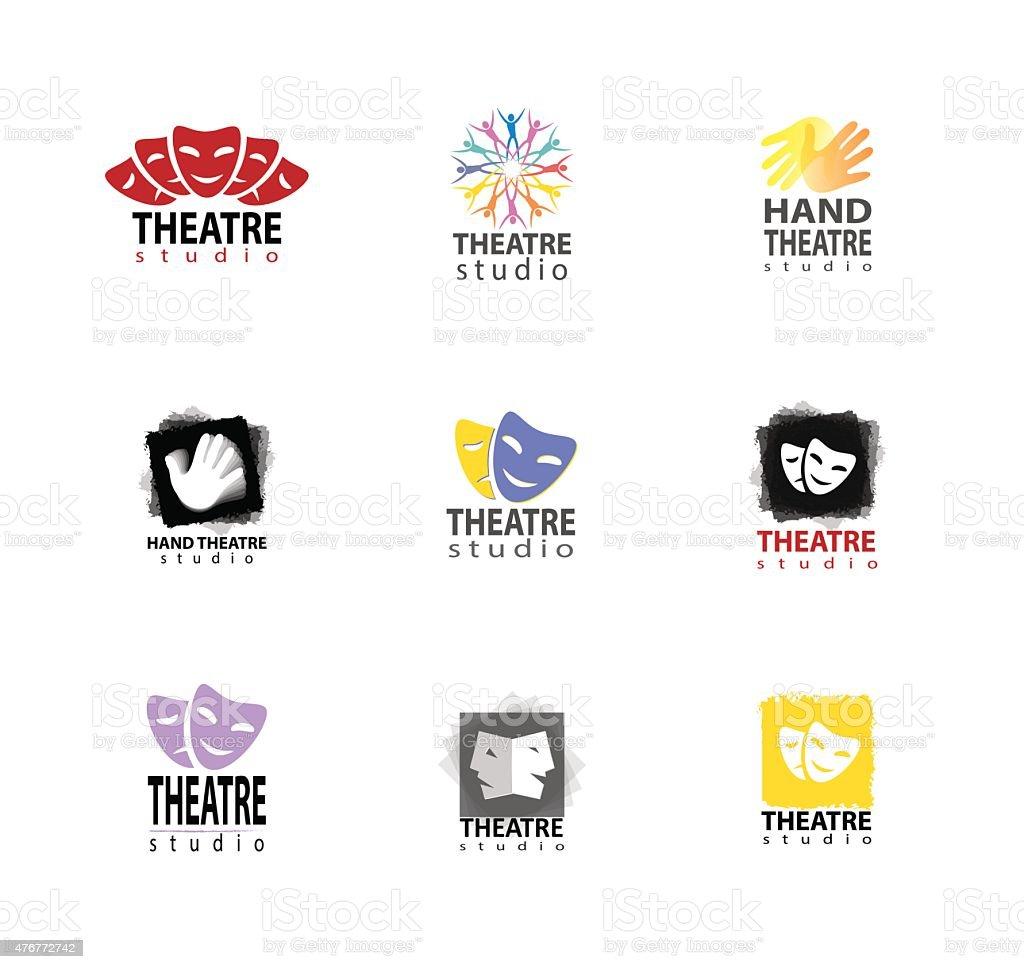 Set Of Theatre Studio Logo Design vector art illustration
