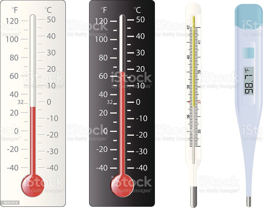 Set of thermometers royalty-free set of thermometers stock vector art & more images of celsius