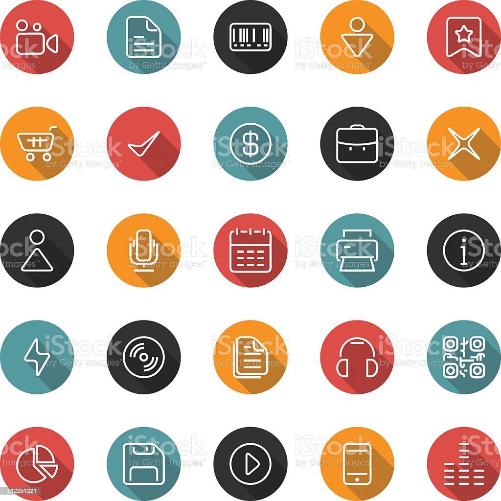Set of thin icons. Style flat. Vector ui, web, app. vector art illustration
