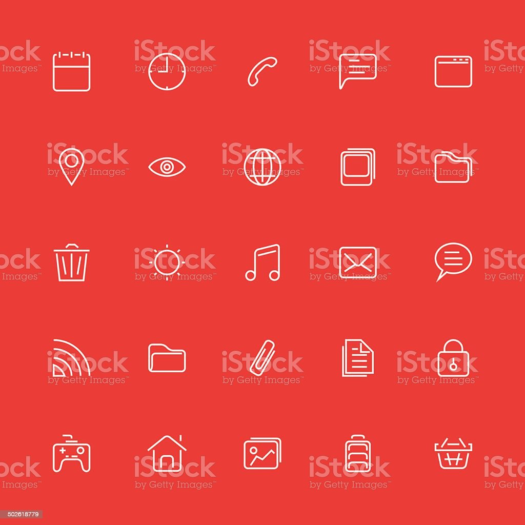 Set of thin icons. Style lines. Vector ui, web, app. vector art illustration
