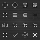 Set of Thin Line Stroke General Icons Vector Illustration