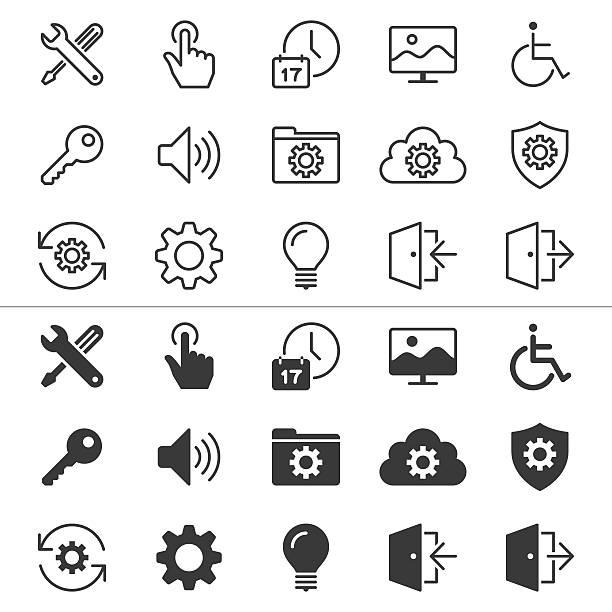 Die dünne Symbole – Vektorgrafik