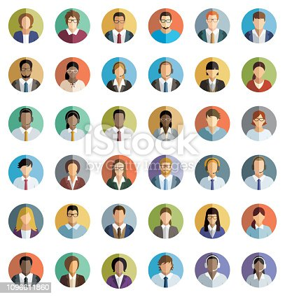 Young Business People – Icons set