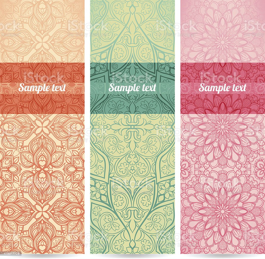 set of three banners royalty-free stock vector art