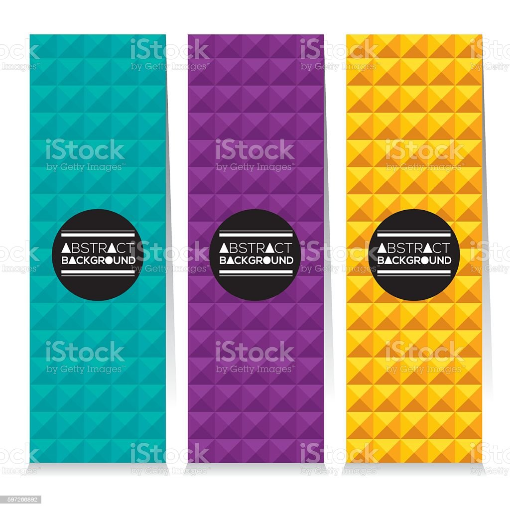 Set Of Three Colorful Abstract Vertical Banners royalty-free set of three colorful abstract vertical banners stock vector art & more images of abstract