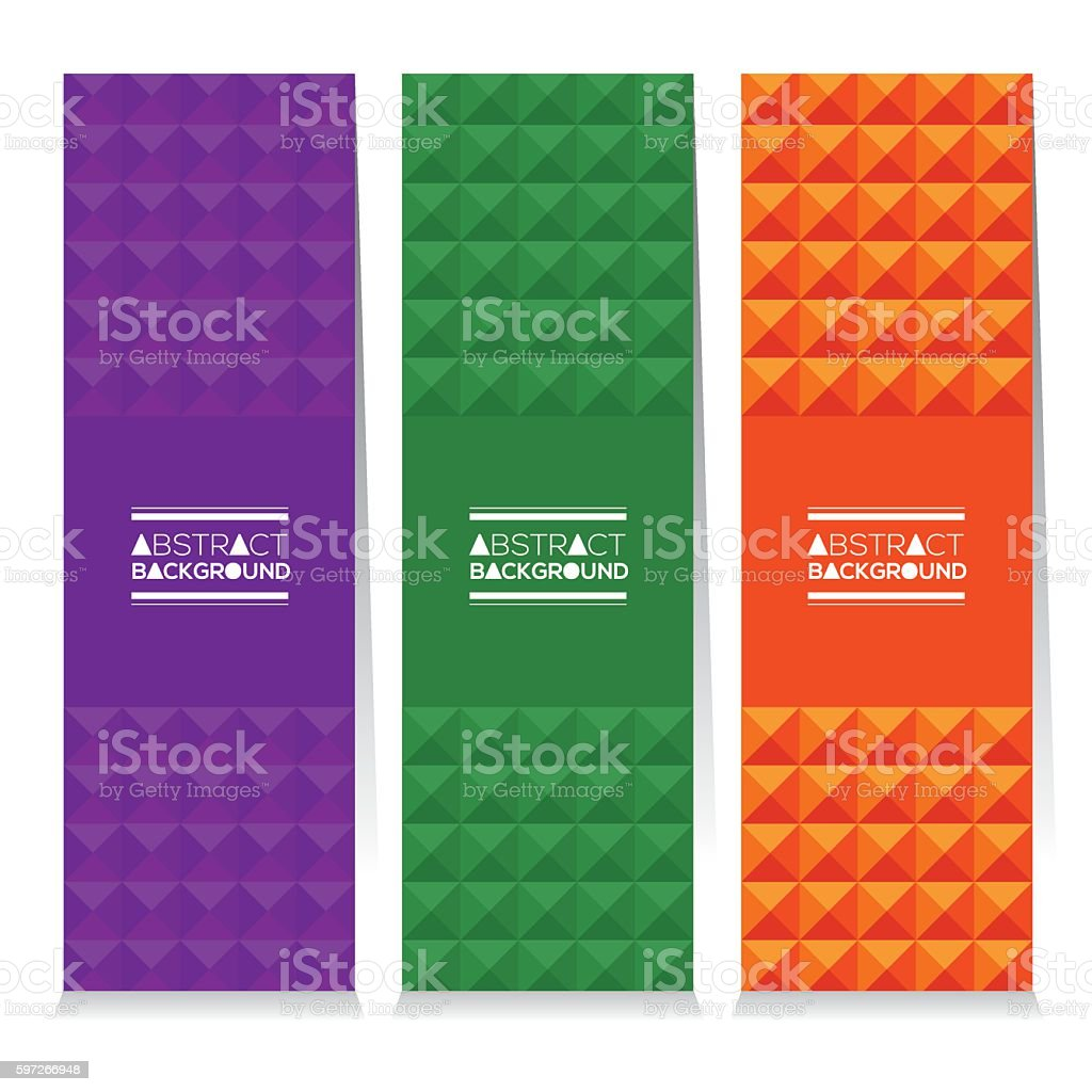 Set Of Three Colorful Abstract Vertical Banners set of three colorful abstract vertical banners – cliparts vectoriels et plus d'images de abstrait libre de droits