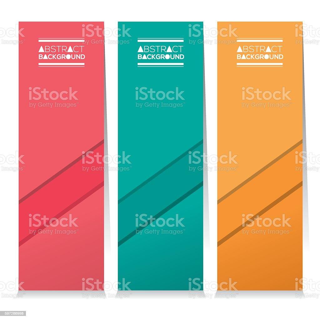 Set Of Three Colorful Abstract Vertical Banners set of three colorful abstract vertical banners – cliparts vectoriels et plus d'images de abstrait libre de droits
