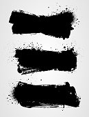 Set of three black grunge banners for your design. eps10 - contains transparencies.
