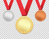 Set of three medals.