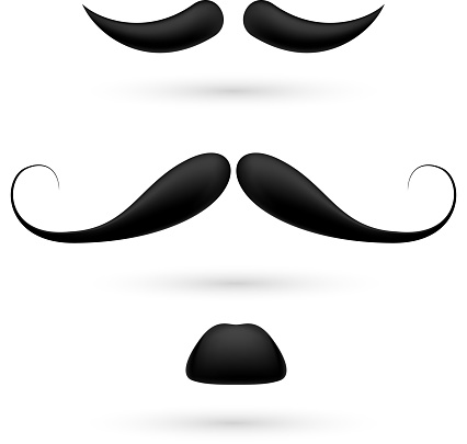 set of three moustache