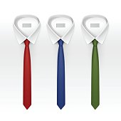 Set of Tied Striped Colored Silk Ties and Bow Ties