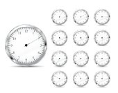 Set of time icons. Clock
