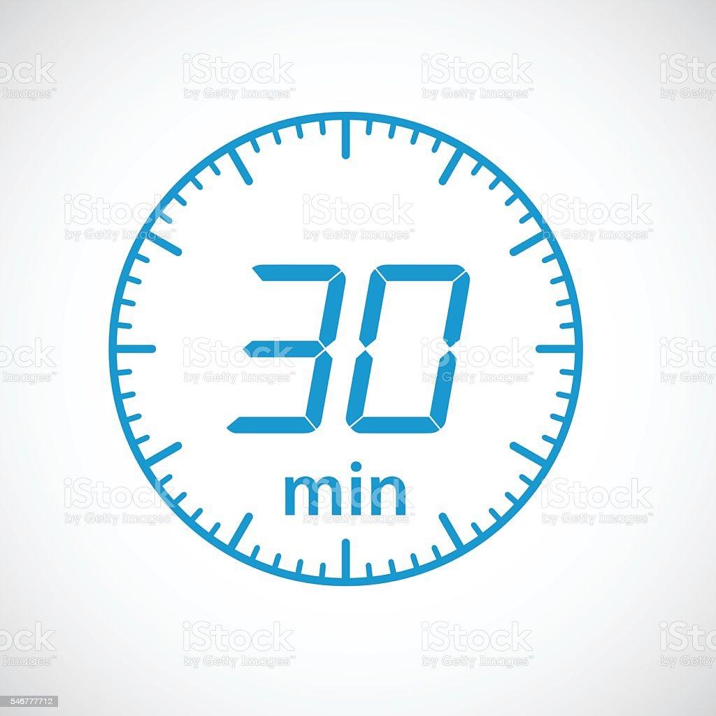 set of timers 30 minutes stock vector art more images of. Black Bedroom Furniture Sets. Home Design Ideas