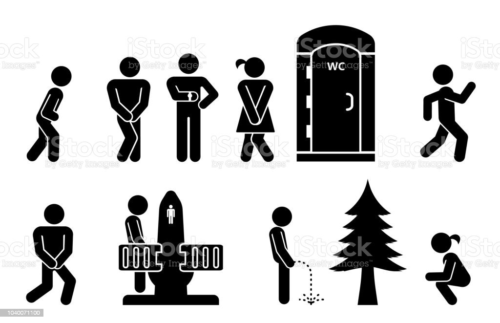 . Set Of Toilet Signs Wc Icons Stock Illustration   Download Image Now