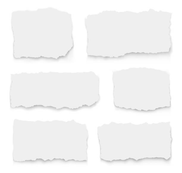 一組撕裂的紙不同的形狀。收集撕紙。向量插圖 - 報紙頭條 幅插畫檔、美工圖案、卡通及圖標