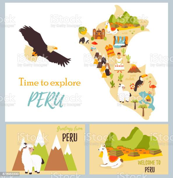 Set of tourist cards of peru with landmarks vector id878953330?b=1&k=6&m=878953330&s=612x612&h=iv0nm7oy9mmngkdbefbdnij11wawnd2 2sg8hwfnpay=