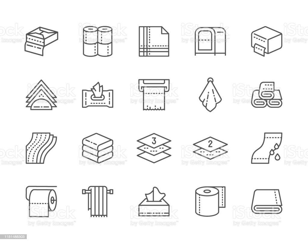 Comment Rouler Les Serviettes De Bain ensemble de serviettes et des icônes de ligne de serviettes