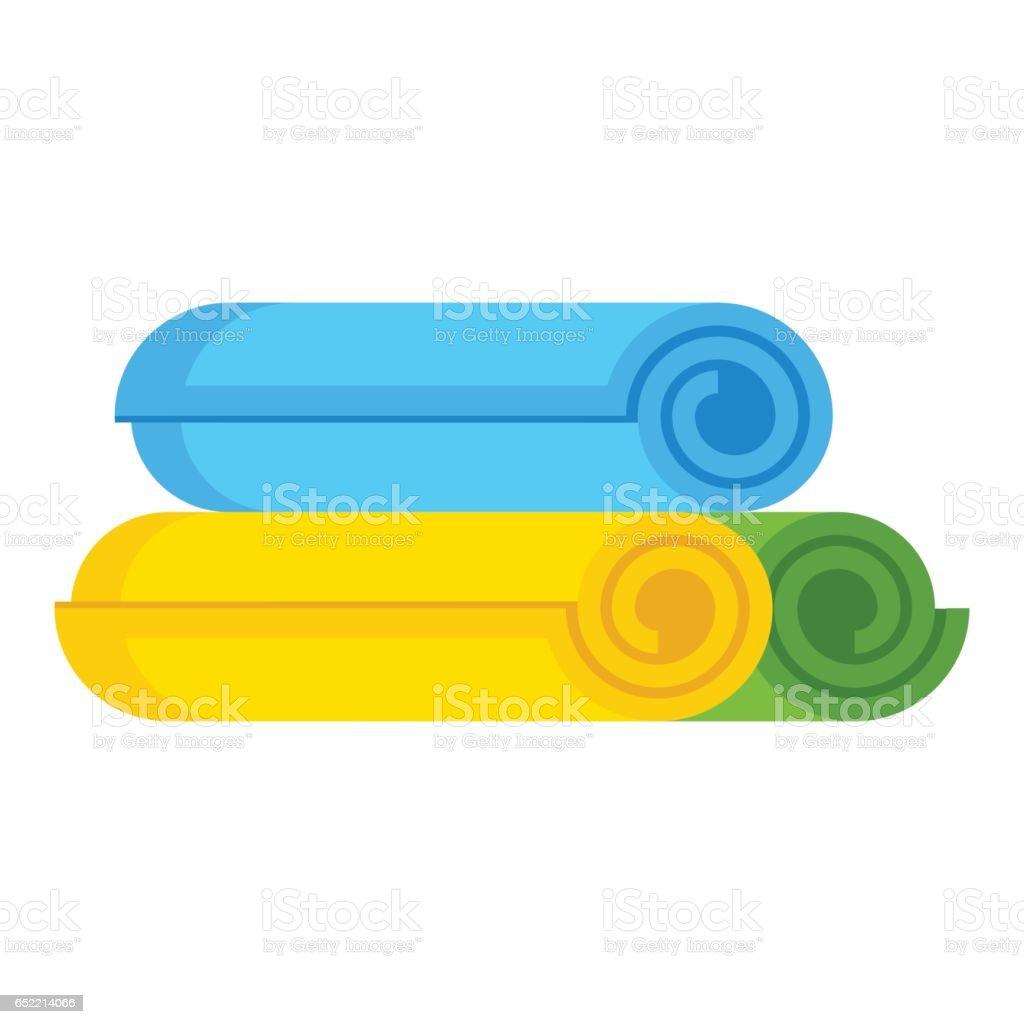 set of towels vector art illustration