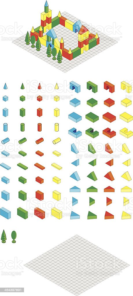 Set of toy blocks royalty-free set of toy blocks stock vector art & more images of architecture