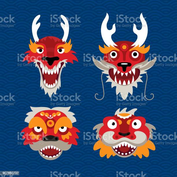 Set of traditional chinese celebration symbols dragon and lion vector id907850702?b=1&k=6&m=907850702&s=612x612&h=otwkhheknsp3znydm76nzlvo8tdpc1x8dnrrcjkpjwg=