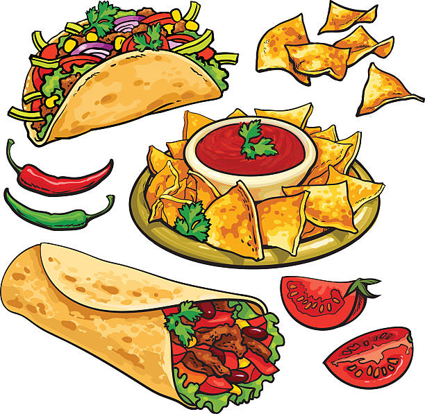 Royalty Free Nacho Chip Clip Art, Vector Images ...