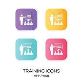 Set of Training App Icon