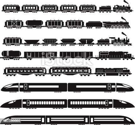 set of vector trains