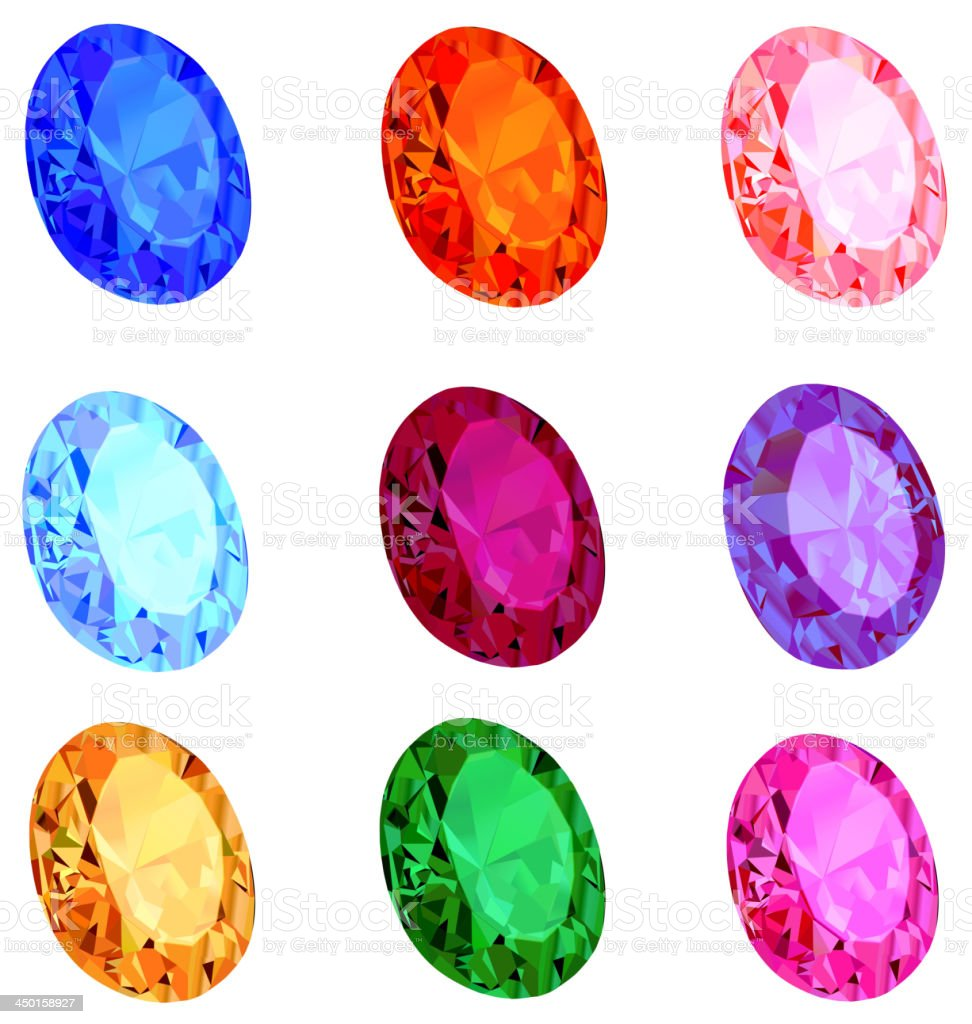 set of transparent precious stones royalty-free set of transparent precious stones stock vector art & more images of amethyst