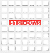 Set of transparent realistic shadow effects. Vector illustration for your modern design. Web banners. Increase sizes and change rectangle proportions to necessary without quality loss.