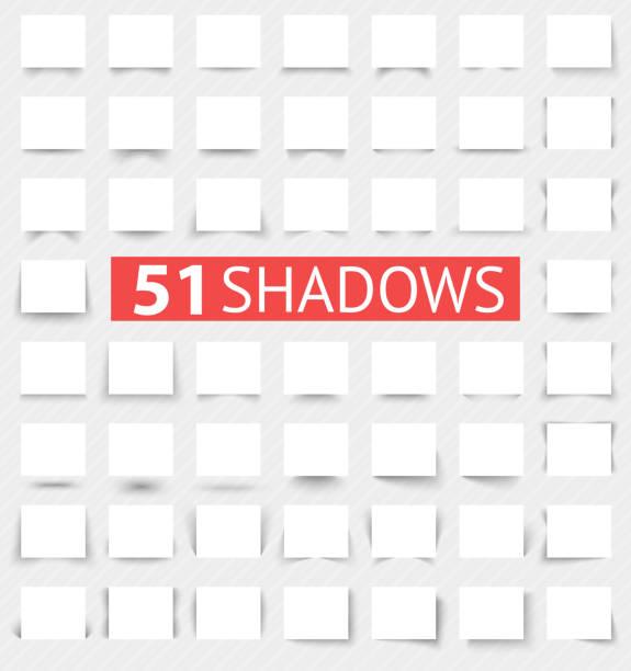 набор эффектов прозрачной реалистичные тени - тень stock illustrations