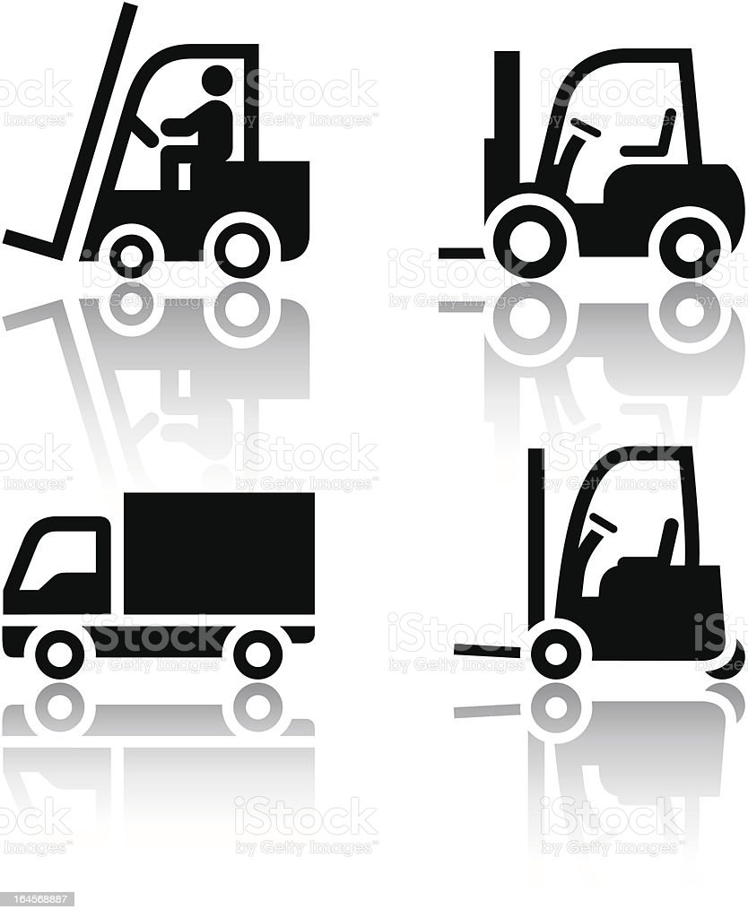 Set of transport icons - loader